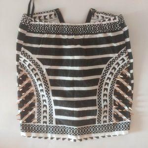 Angel Biba Black / White Spiked Skirt